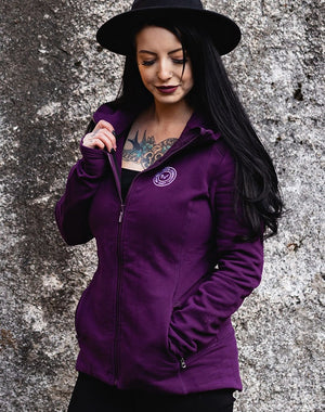 TYF Hope Healing Strength Love Purple Hooded Yoga Jacket