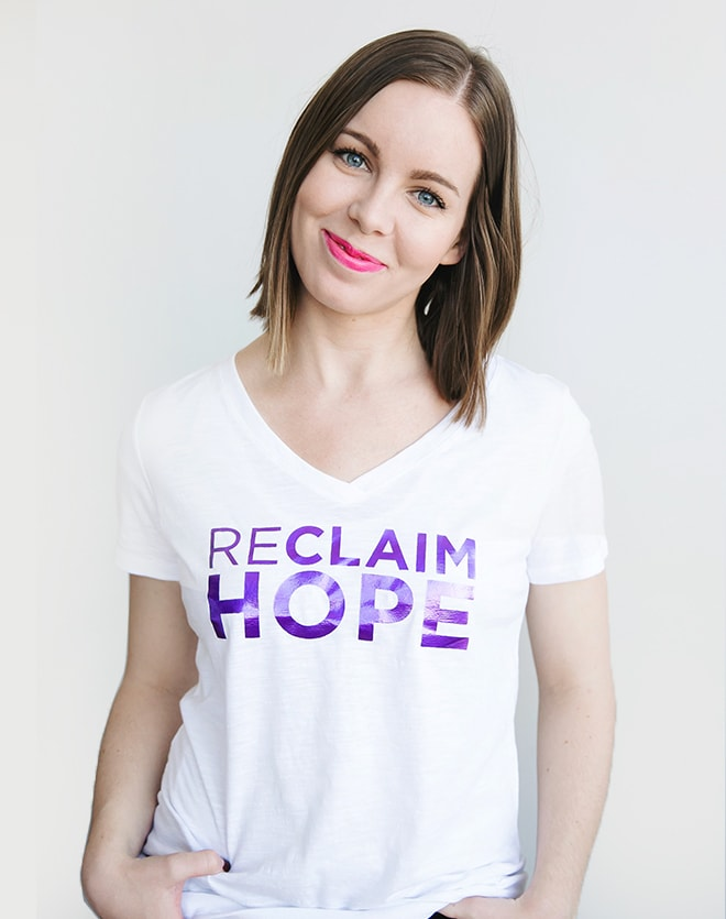 Reclaim Hope White Foil Tee