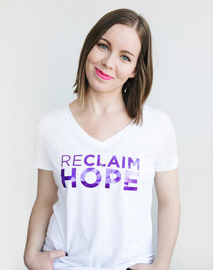 TYF Reclaim Hope White Foil Tee