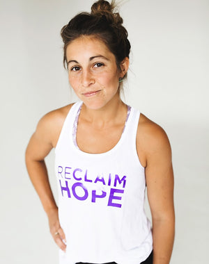TYF Reclaim Hope White Foil Tank