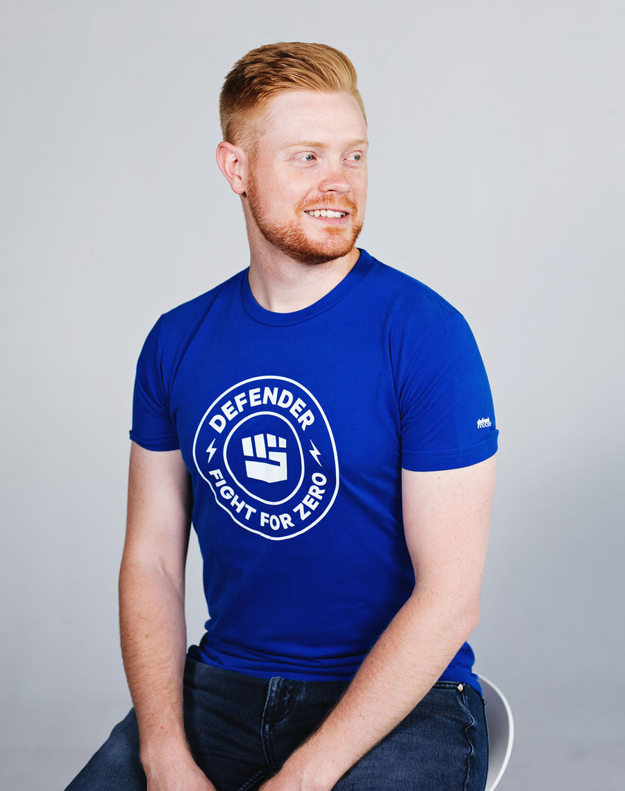 Defend Innocence Fight for Zero Royal Blue Unisex Tee