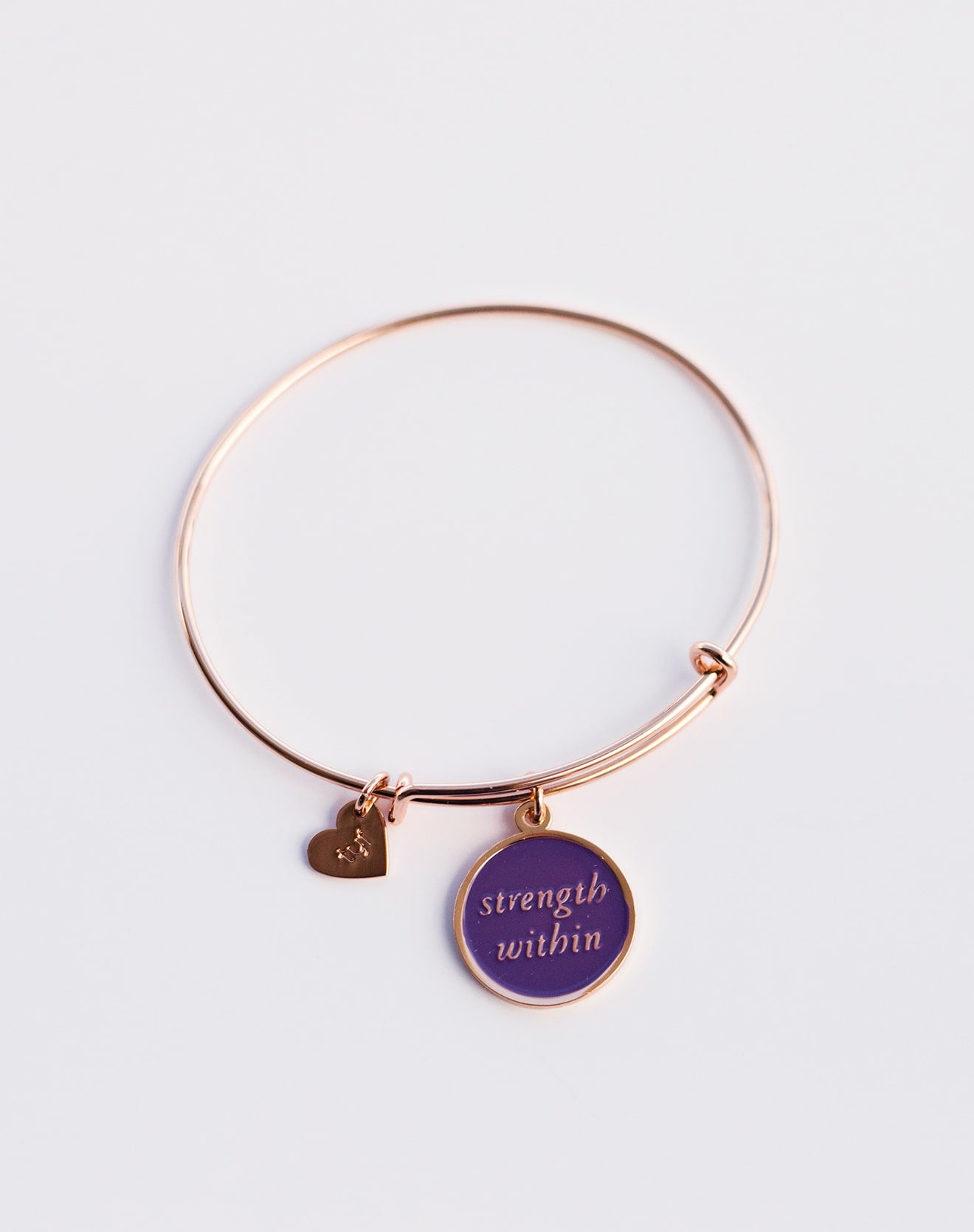 "TYF ""Strength Within"" Charm Bracelet with Gift Box"