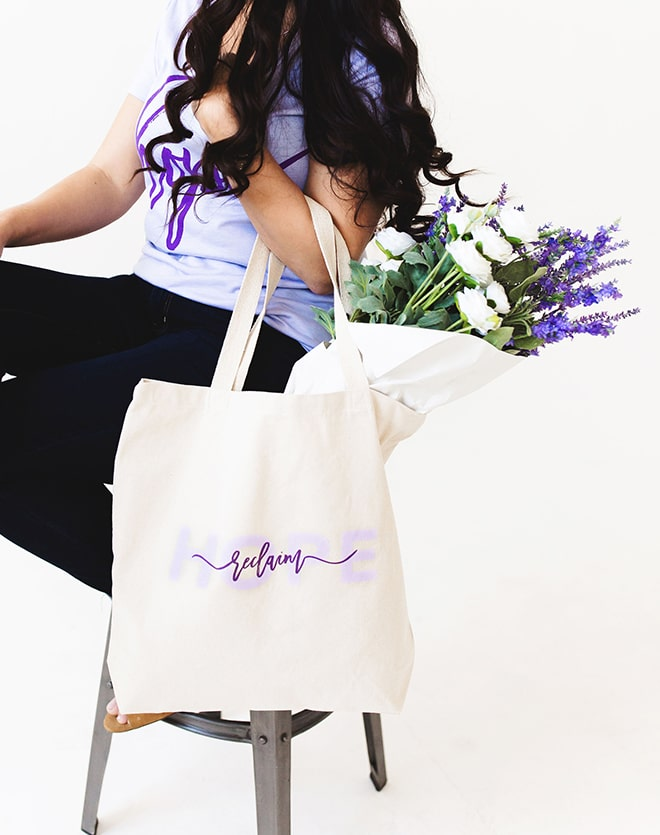 Reclaim Hope Canvas Tote Bag