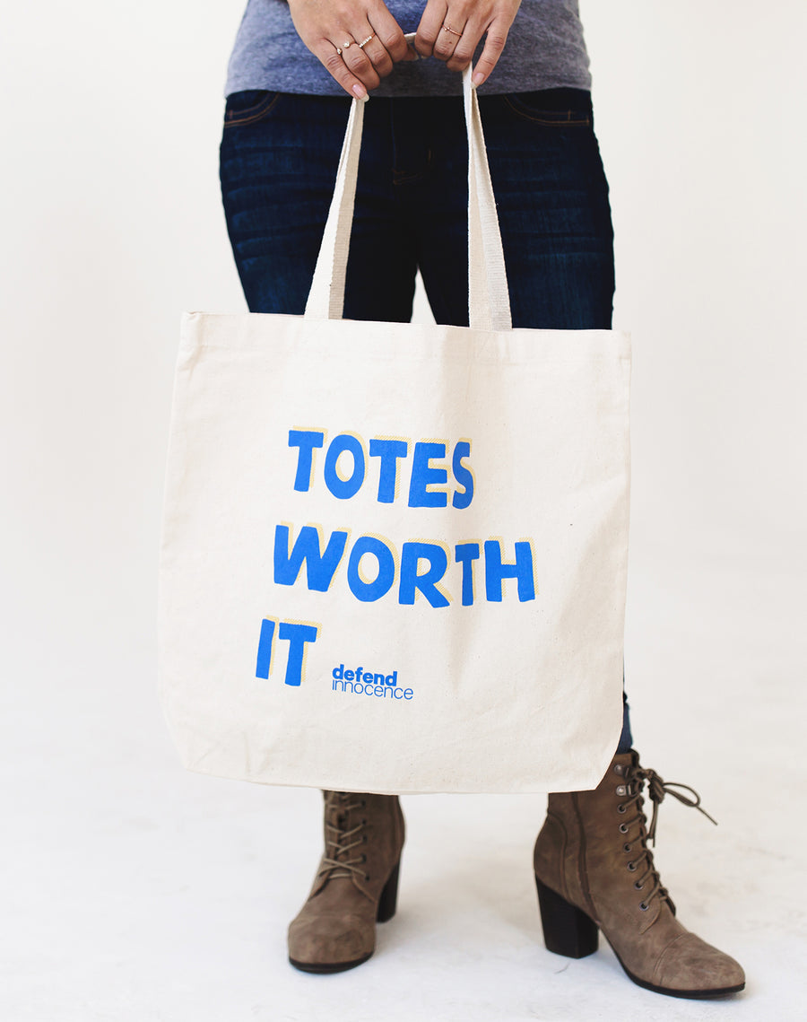 Defend Innocence Totes Worth It Canvas Tote