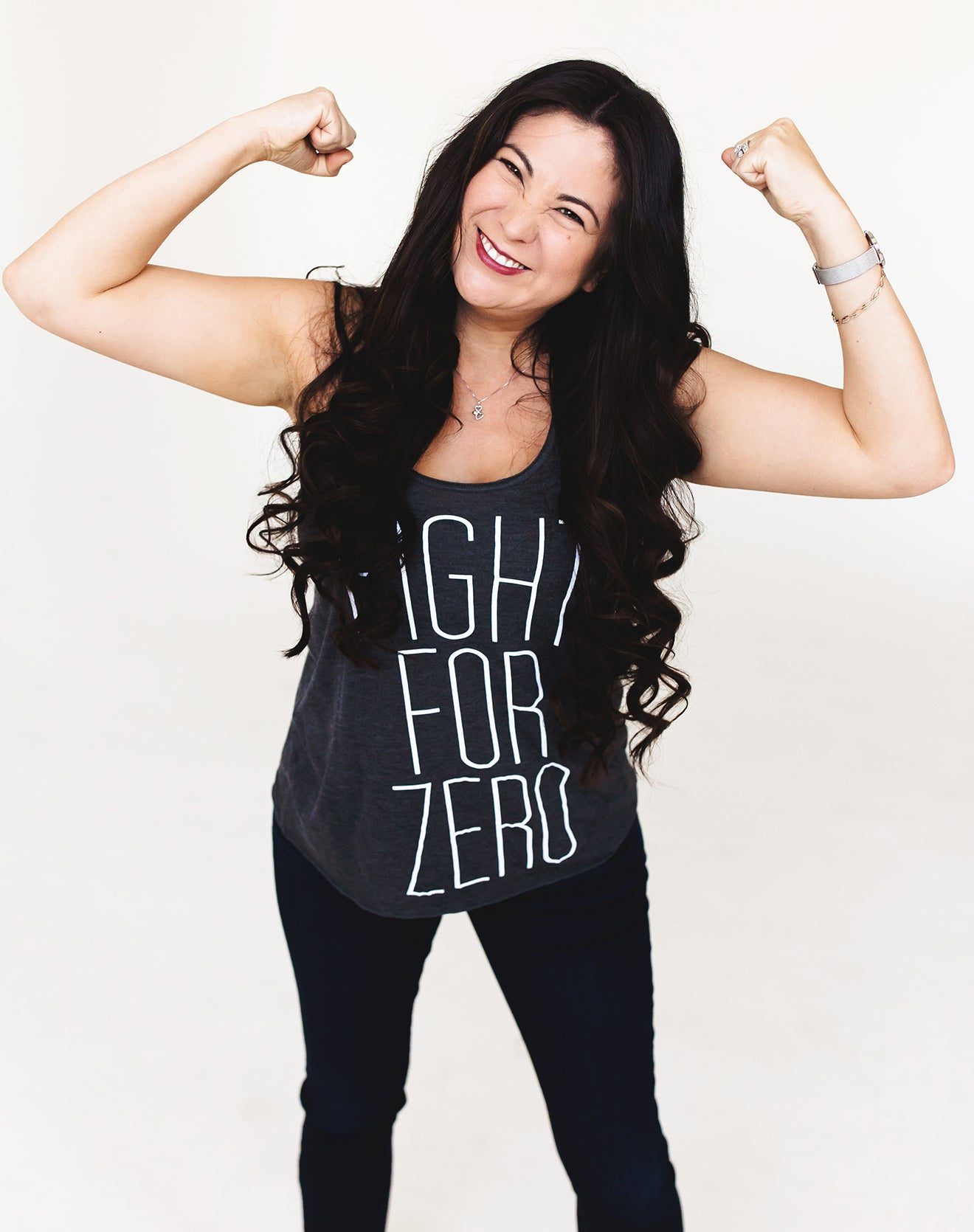 Women's Gray Tank - Fight for Zero