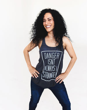 Defend Innocence Danger Isn't Always A Stranger Gray Tank