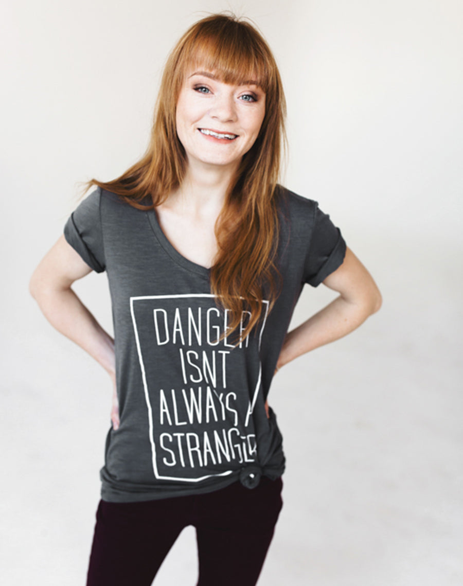 Defend Innocence Danger Isn't Always a Stranger V-Neck Tee