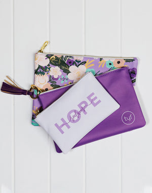 Floral Collection Zipper Pouches - Set of 3