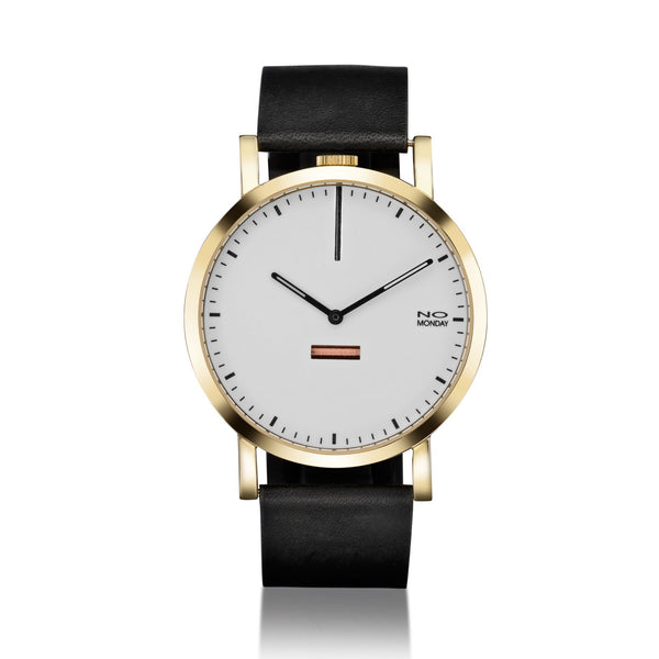460 - gold mirror / white dial / black strap