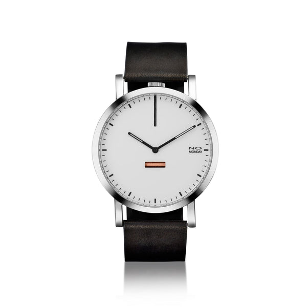 460 - silver mirror case / white dial