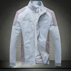 Casual Comfortable Two Tone Jacket | 81Supreme Light Blue / S Men Clothing