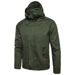 Casual Military Style Hoodie Jacket | 81Supreme Army Green / S Men Coats & Blazers