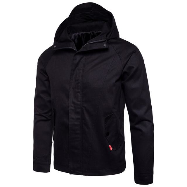 Casual Military Style Hoodie Jacket | 81Supreme Black / S Men Coats & Blazers