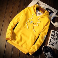 Casual Solid Color Cotton Hoodie Sweater | 81Supreme Yellow / S Men Clothing