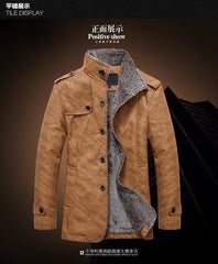 Casual Thick Warm Winter Slim Fit Leather Coat | 81Supreme Men Coats & Blazers