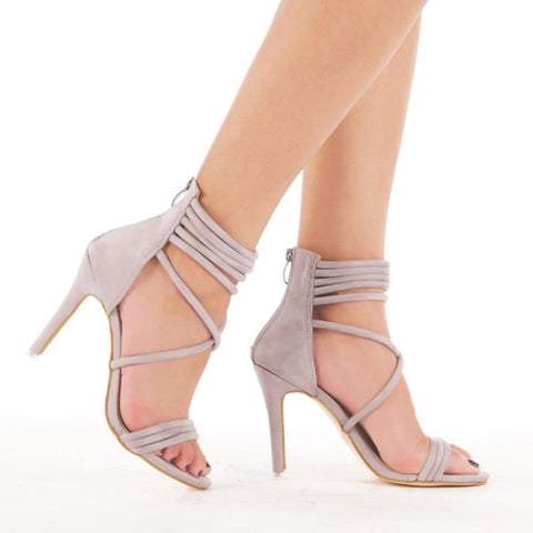 Women Ankle-Wrap Open Toe Gladiator High Heels | 81Supreme Shoes