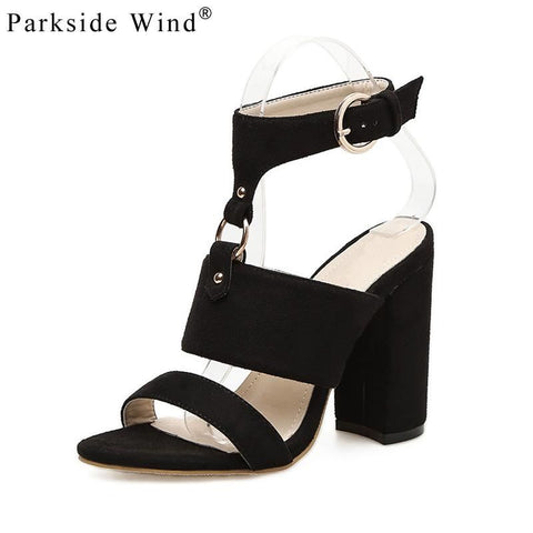 Women Flock Gladiator Slingback High Heel Sandals | 81Supreme Black / 4 Shoes