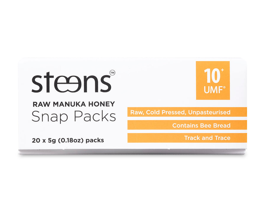 Steens UMF 10+ (MGO 263) Raw Unpasteurized NZ Manuka Honey Snap Pack - Steens Honey
