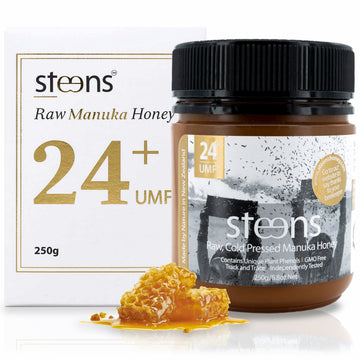 Steens UMF 24+ (MGO 1122) Raw Unpasteurized NZ Manuka Honey 250 Gram
