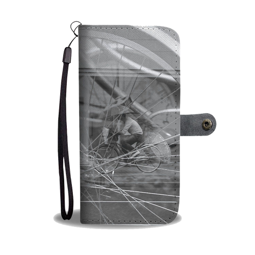 ABlyth Smart Phone Wallet, Art Series: Poem of a Cacophonous City, Wheels