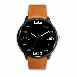 ABlyth Watch, Fun Series: You Are Late, Black