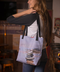 ABlyth Tote bag: Travel Series, Live Love Travel