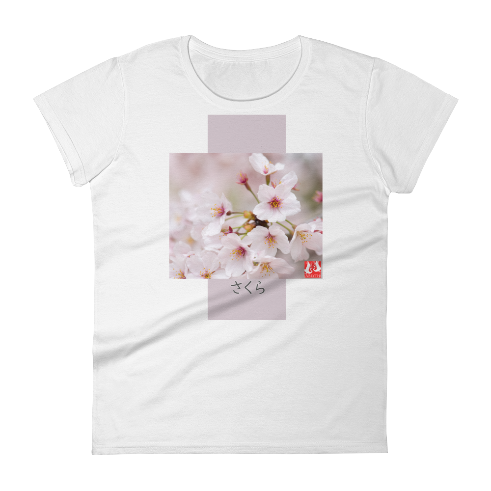 ABlyth Women's short sleeve t-shirt, Travel Japan Series, Sakura