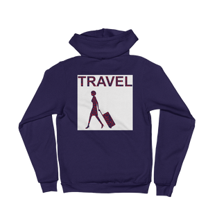 ABlyth Hoodie sweater Travel Asia Series: Lady & Suitcase