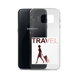 ABlyth Samsung Case, Travel Asia Series: Lady & Suitcase