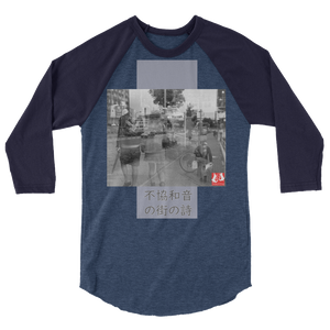 ABlyth 3/4 sleeve raglan shirt, Art Series, Poem of a Cacophonous City: Paths
