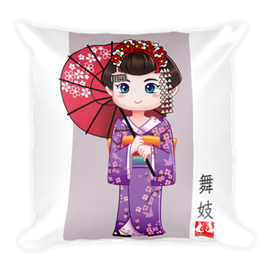 ABlyth Girl's Square Pillow Kid's Series: Maiko 01