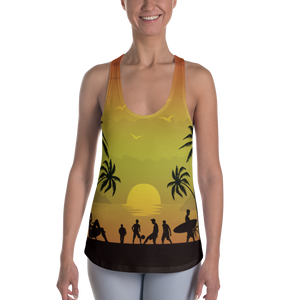ABlyth Women's Racerback Tank, Summer Series: Pacific Sunset