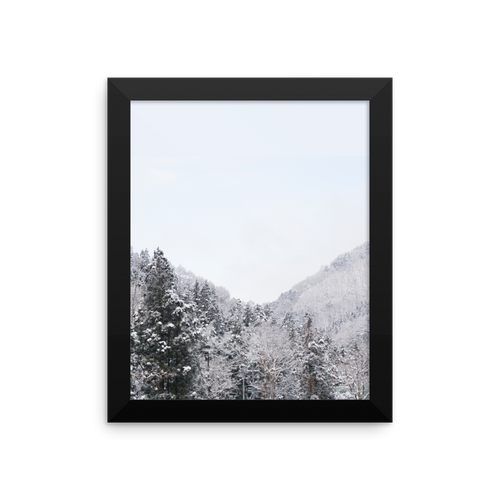 ABlyth Framed poster, Travel Series: Jigokudani Snow Monkey Park