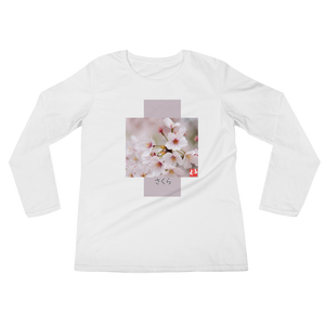 ABlyth Ladies' Long Sleeve T-Shirt, Travel Japan Series, Sakura