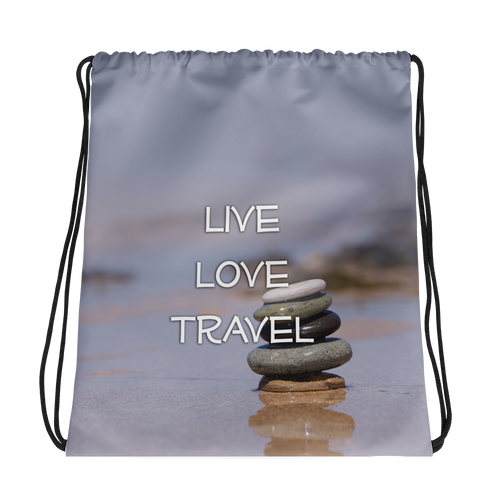 ABlyth Drawstring bag: Travel Series, Live Love Travel