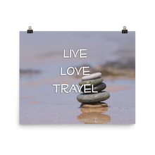 ABlyth Poster: Travel Series, Live Love Travel