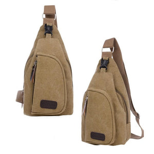 Japanese Style Casual Canvas Mens Shoulder Bag #YH4S