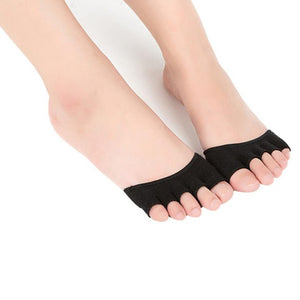 Womens Invisible Yoga Gym Backless Toe Socks #28