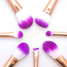 8Pc Mermaid Shaped Makeup Brush Set