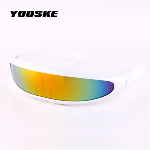 YOOSKE X-men-style  Sunglasses Mercury Lens Laser Glasses Travel Windproof Sun Glasses Robots Eyewear