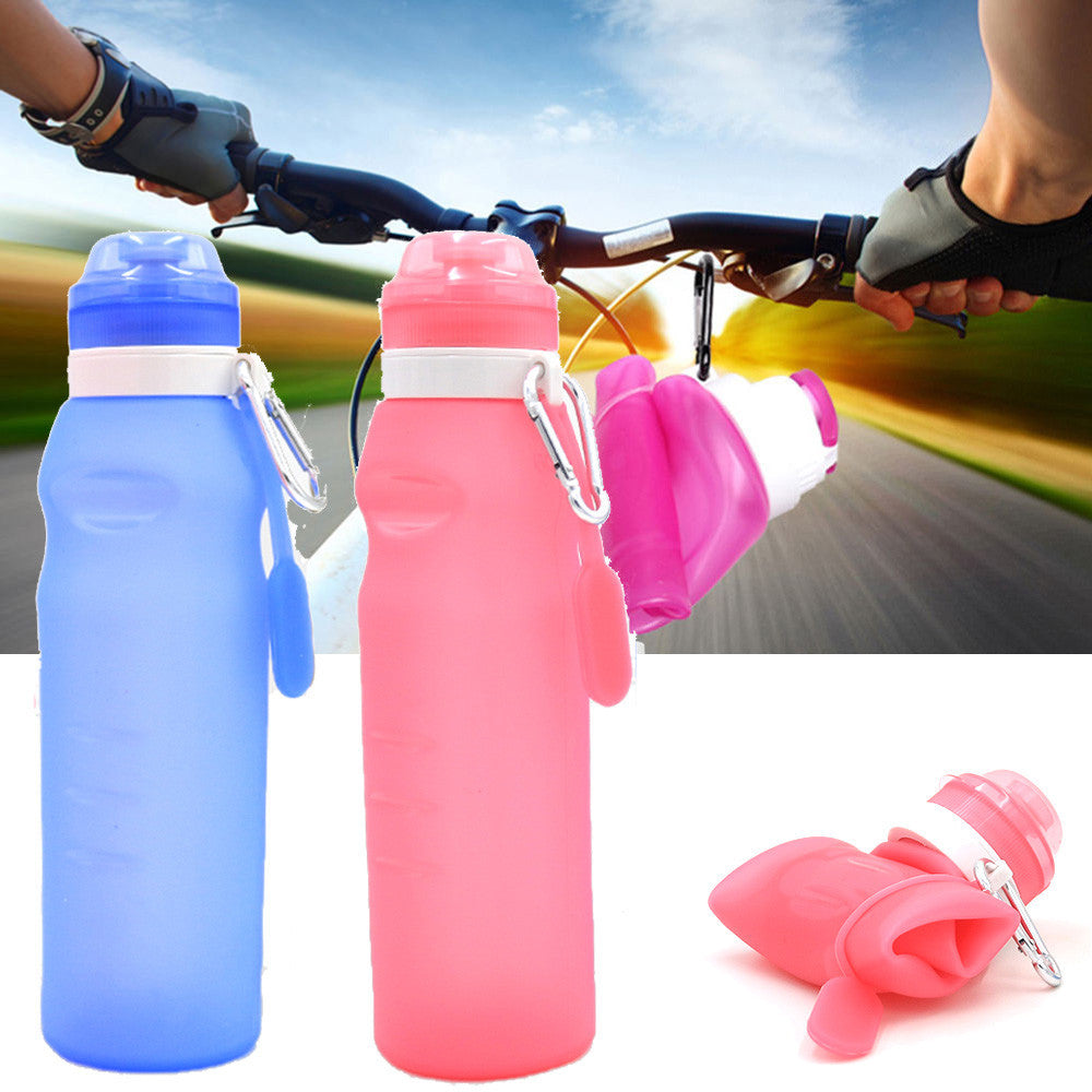 Collapsible Foldable Silicone Drink Sport Bottle