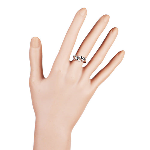 Womens Popular Alloy Double Dolphin Ring