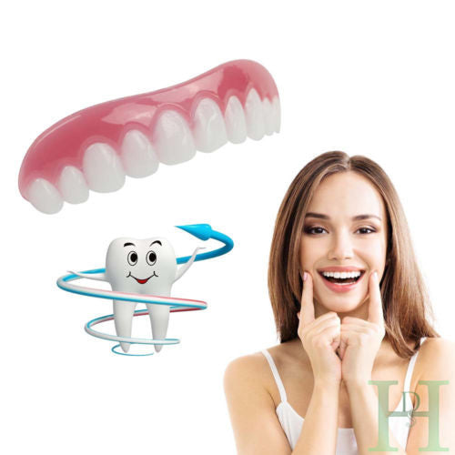 Silicone Simulated Teeth Instant Smile Cosmetic Teeth Natural Comfortable Upper Veneers