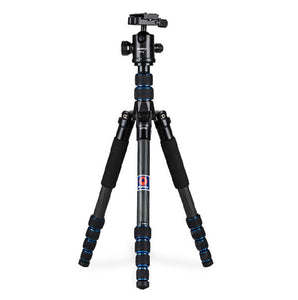 Manbily CZ-302 Professional Photo portable Travel Camera & DV Carbon Fiber Tripod Stand for Canon Nikon, Max Load 15kg