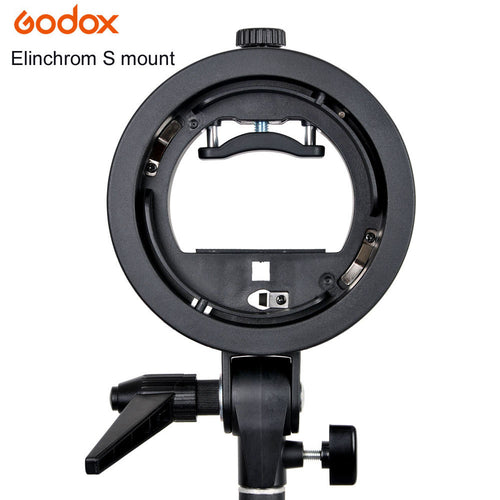 Godox S-Type Bracket Elinchrom S Mount Holder for Speedlite Flash Snoot Softbox Honeycomb Beauty Dish
