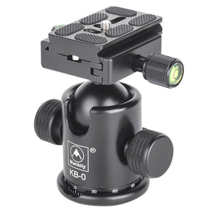 Manbily KB-0 Professional Tripod Universal Ball Head with Fast Mounting Plate