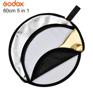 "Original GODOX 24"" 60cm Multi-disc 5 in 1 Photo Light Collapsible Reflector for Studio Photography Flash"