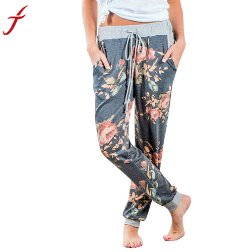 Women's Floral Print Sweat Pants