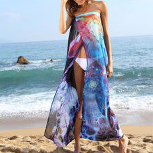 Women Sexy Bikini Beach Dress Chiffon Long Wrap Yarn Swimwear Smock Bikini Suit Cover Ups