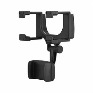 Onever Universal 360 Degrees Car Rearview Mirror Mount Phone Holder Phone Holder Stands For iPhone for Samsung GPS Smartphone